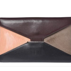 Celine Leather & Pony-hair Diamond Pouch